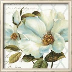 White Floral Bliss II Lámina giclée por Lisa Audit en AllPosters.com.ar.
