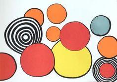 """Alexander CALDER """"Composition aux cercles"""", 1970 Lithographie originale sur papier vélin. Signée et annotée """"H.C"""" . Tirage à 100 exemplaires. Format 50 x 65 cm. En très bon état."""