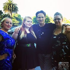 Stephen Moyer with fans after Chicago rehearsals at the Hollywood Bowl