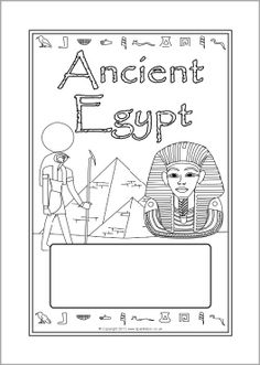 FREE 3 different Ancient Egypt editable topic book covers (SB6878) - SparkleBox