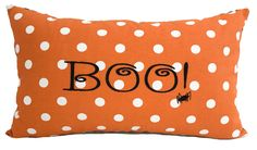 Halloween pillow cover, 12x20, Halloween decor, Spider pillow, Orange throw pillow, Orange black pillow, Lumbar pillow, Accent pillow by PillowCorner on Etsy