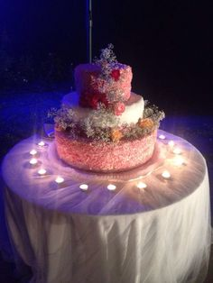 Wedding cake con fiori veri