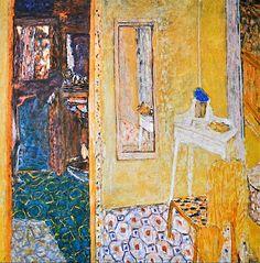 """Pierre Bonnard, """"Interior at Le Cannet""""; (1938)"""