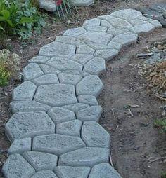 Pflastermacher-Weg mit Kurve