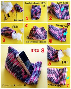 make an easy crochet tablet/phone pillow, for yourself. Enjoy :) ♥