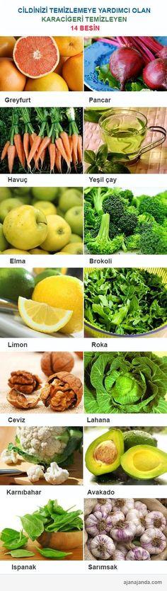 Karaciğer ve cildi arındırmaya yardımcı 14 besin | Ajan Ajanda