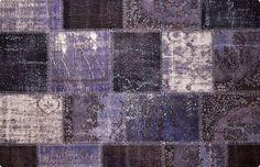 Vintage Patchwork Teppich - mozaiik Unikat Nr. 23TP