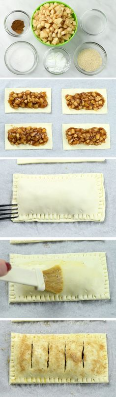Copycat McDonald's Apple Pies step-by-step instruction. Fried Apple Pies, Mini Apple Pies, Fried Apples, Apple Pie Recipes, Apple Desserts, Dessert Recipes, Cat Recipes, Fall Desserts, Recipes