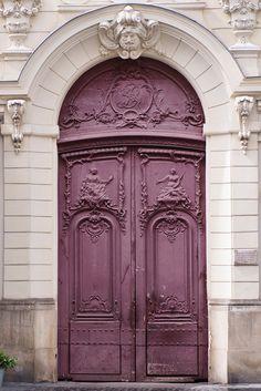 Paris Photo - Purple Door, Parisian Architecture Fine Art Photograph, Home Decor, Large Wall Art by ParisianMoments on Etsy https://www.etsy.com/listing/104447102/paris-photo-purple-door-parisian