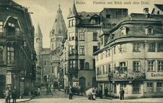 Mainz Germany, Dom, Poster, History, City, Fish, Postcards, Germany, Photo Illustration