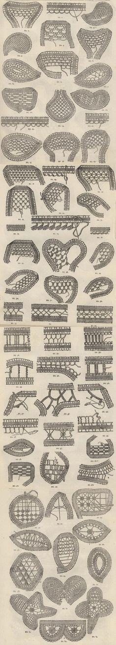 Filling Stitches. Click to read the 1888 Young Ladies Journal, and review the instructions for point lace starting on page 78