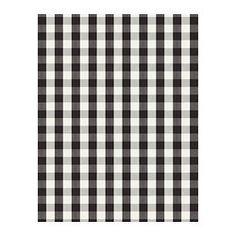 IKEA BERTA RUTA fabric black check / gingham ** (Need 4 metres for patio door)