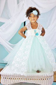 Mint Ivory Flower girl dress- Lace and Mint flower girl dress-Vintage inspired flower girl dress on Etsy, $85.00..navy blue or purple instead if mint?!