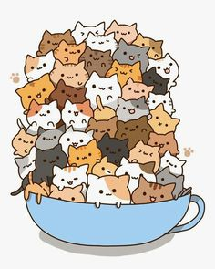 Tiny tiny little little cats in a cup! =^____^=