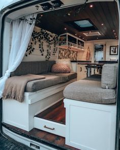 """Just me myself and nothing, but I taught me how to love it. Home is wherever I live. Bus Living, Tiny House Living, Living Room, Living Area, Trailers Camping, Minivan Camping, Camper Trailers, Kombi Home, Camper Van Conversion Diy"