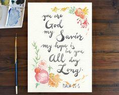 Psalm 25:5 by MiyukiKLong on Etsy