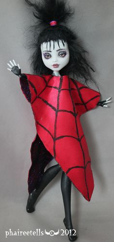 Monster High repaint FRANKIE Lydia beetlejuice by ~phairee004 on deviantART