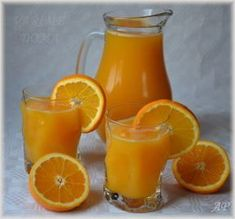 Domácí pomerančový džus 2 Home Canning, Home Recipes, Frappe, Hurricane Glass, Mojito, Oreo, Smoothies, Juice, Good Food