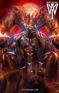 MCU Black Panther Art/ King on The Throne