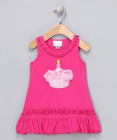 Take a look at this Fuchsia Cupcake Rosette Dress - Infant & Toddler by Luv Me Lots on #zulily today!