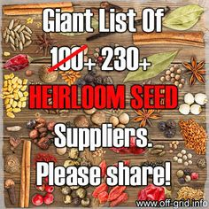 List Of 230+ Heirloom Seed Suppliers