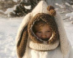 KNITTING PATTERN snood arctic Fox Rene baby toddler child