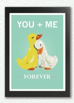 two ducks in love