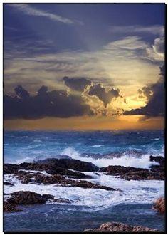 Poster - onda, quebrar, contra, costa, rocha k5776869 - impressões de foto artística, impressões de telas, decoração de parede, galeria de impressões, murais - k5776869.jpg