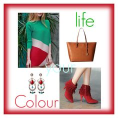 """""""Colour your life 💚"""" by julie-lg ❤ liked on Polyvore featuring MICHAEL Michael Kors"""