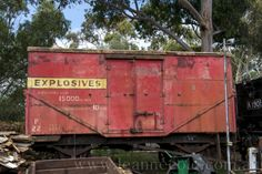 I fear the only explosives left for this wagon are the explosive blisters of rust cancer. Train Station, Rust, Trains, Cancer