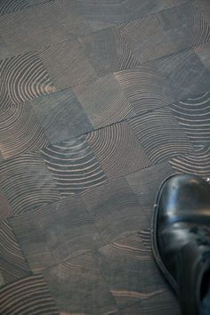 End Grain floor - Cool Design Details at The Room & Board Store Opening — Washington, DC 6.10.10
