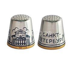"""Наперсток """"Санкт-Петербург"""" Северная чернь Великий Устюг Серебро"""