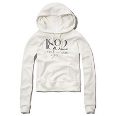 Abercrombie & Fitch Heritage Logo Graphic Hoodie ($10) ❤ liked on Polyvore featuring tops, hoodies, sweatshirts, abercrombie, sweaters, white, white sweat shirt, graphic sweatshirts, hoodie sweatshirts and graphic tops