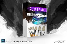 Supreme Acrylic & Gouache Brushes by ArtistMef on Creative Market