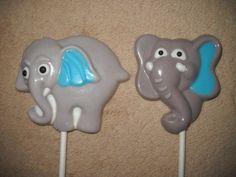 1 chocolate jungle safari animal elephant horton lollipops lollipop | sapphirechocolates - Edibles on ArtFire