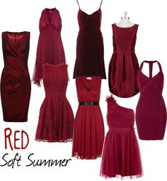 """Soft Summer Red"" by colorazione on Polyvore                                                                                                                                                      More"