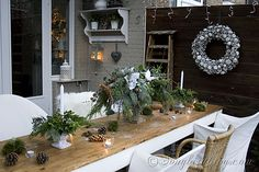 Outdoor Decorating in the garden for Christmas Day 6