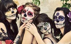Dia de los muertos makeup!