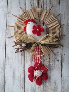 S kytičkou / Zboží prodejce Jalis Jute Crafts, Diy And Crafts, Valentine Day Crafts, Easter Crafts, Paper Basket Weaving, Chicken Crafts, Easter Weekend, Country Crafts, Origami Flowers