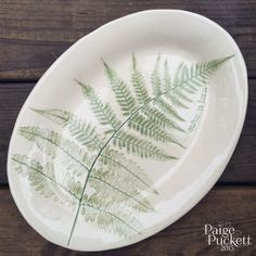 Love Sown: Handbuilt Gardenware - Leaf Imprints in Clay