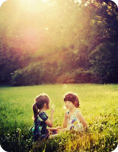 Take some pictures like this -daughters and your friends daughter -maybe they will grow up to be best friends someday