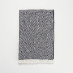 British made navy recycled wool blanket. An eco-friendly throw for your home made from remnants and leftovers from the weaving mill in Wales.