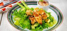 Sitruunaiset broilernugetit salaatilla ja majoneesilla | Keiju
