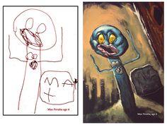 10 Paintings by Dave DeVries - Kid Drawings as Realistic Paintings - Toptenz.net