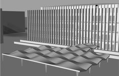 Hunt Library Canopy Iteration using a repeating rigid element to create a fluid form #kerrianfrance #48105-S15