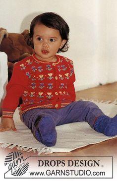 """DROPS Jacke und Socken in """"Baby Merino"""