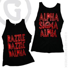ALPHA SIGMA ALPHA SORORITY CUSTOM CHAPTER ORDER ON RAZZLE DAZZLE DALPHA TANKS!! HOW DO YOU PLAN TO STAND OUT THIS FALL ON CAMPUS!? GETSOMEGREEK  ASA!