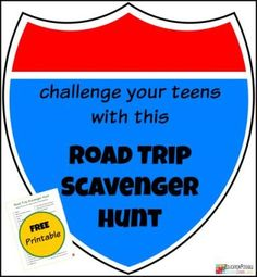 Challenge your middle schoolers with this Road Trip Scavenger Hunt that includes 50 things to search for!
