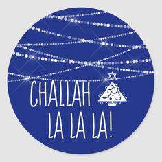 Shop Choose Color Challah La La La Christmas Hanukkah Classic Round Sticker created by NauticalBoutique. Hanukkah Crafts, Hanukkah Food, Hanukkah Decorations, Hannukah, Jewish Christmas, Christmas Ideas, Christmas Crafts, Jewish Customs, How To Celebrate Hanukkah