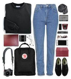 """""""LILI"""" by lsaroskyl ❤ liked on Polyvore featuring Topshop, Blair, Fjällräven, Reef, Vans, Baobab Collection, Home City, philosophy, Edward Bess and NARS Cosmetics"""